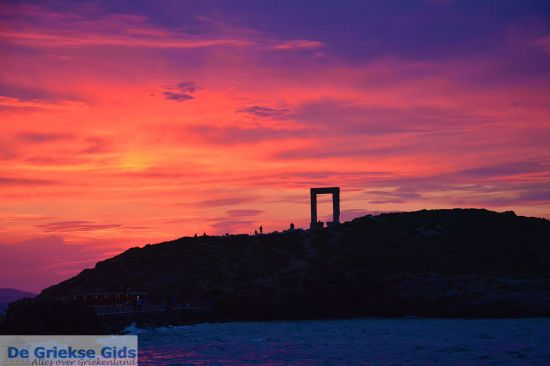 Naxos zonsondergang